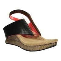 Women's MODZORI Amaza Thong Sandal Black/Coral Reversible