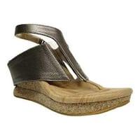Women's MODZORI Amaza Thong Sandal Dull Silver/Pearl Gold Reversible