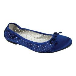 Women's Rialto Shirlee II Ballet Flat Royal Blue Satin Fabric