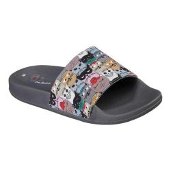 Women's Skechers BOBS Pop Ups Scratch Summer Slide Sandal Multi