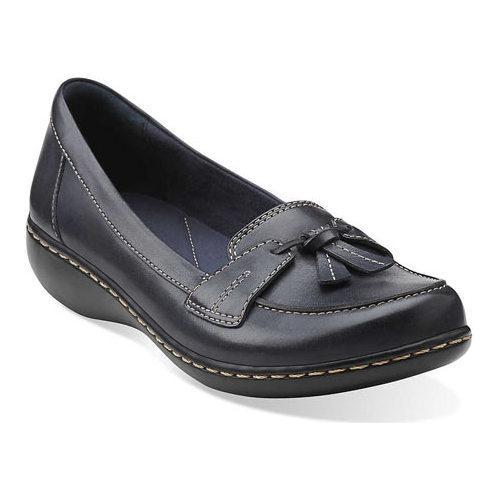 Navy Clarks Women'S Leather Ashland Bubble