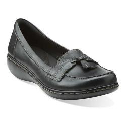Women's Clarks Ashland Bubble Black Leather