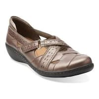Women's Clarks Ashland Spin Pewter Leather