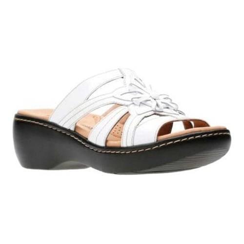 84c3bae5794 Shop Women s Clarks Delana Venna Slide White Full Grain Leather - Free  Shipping Today - Overstock - 20590118