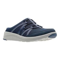 Women's Clarks Darleigh Myra Sneaker Mule Navy Textile (More options available)