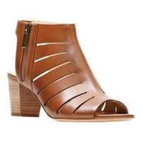 Women's Clarks Deloria Ivy Heeled Sandal Tan Leather