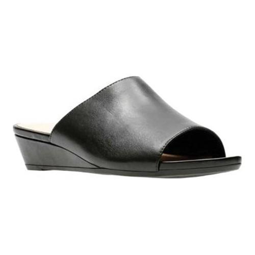 06989349d Shop Women s Clarks Parram Waltz Slide Black Full Grain Leather - Free  Shipping Today - Overstock - 20590168