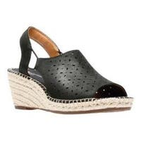 Women's Clarks Petrina Gail Wedge Sandal Black Nubuck