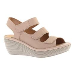 9c37586cac7a Shop Women s Clarks Reedly Juno Wedge Sandal Sand Goat Nubuck - Free ...