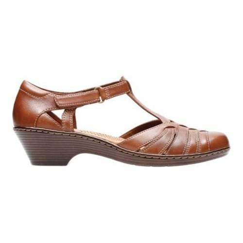bef37d7b1d6b ... Thumbnail Women  x27 s Clarks Wendy Alto T Strap Tan Full Grain Leather  ...