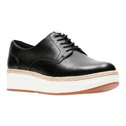 Women's Clarks Teadale Rhea Sneaker Black Leather