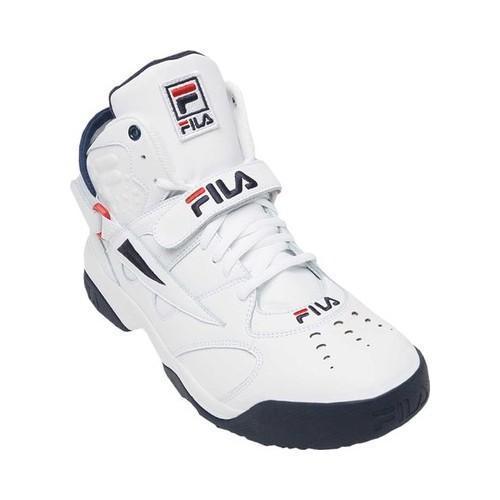 d2ddde7c695d Shop Men s Fila Spoiler Basketball Sneaker Black Fila Red White ...