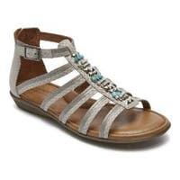Women's Rockport Jamestown Gladiator Sandal White Multi Leather