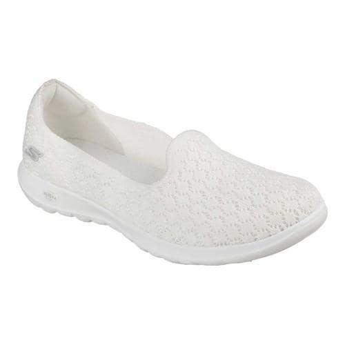 3583f8830c84a ... Womenx27s Skechers GOwalk Lite Daisy Slip-On Walking Shoe White . ...