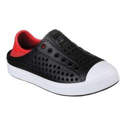 Boys' Skechers Guzman Steps Aqua Surge Slip-On Shoe Black/Red