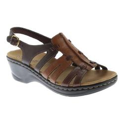 Women's Clarks Lexi Marigold Sandal Brown Multi Leather - Thumbnail 0