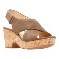Women's Clarks Maritsa Lara Platform Sandal Olive Suede/Cork
