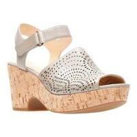 Women's Clarks Maritsa Nila Wedge Sandal Sand Full Grain Leather