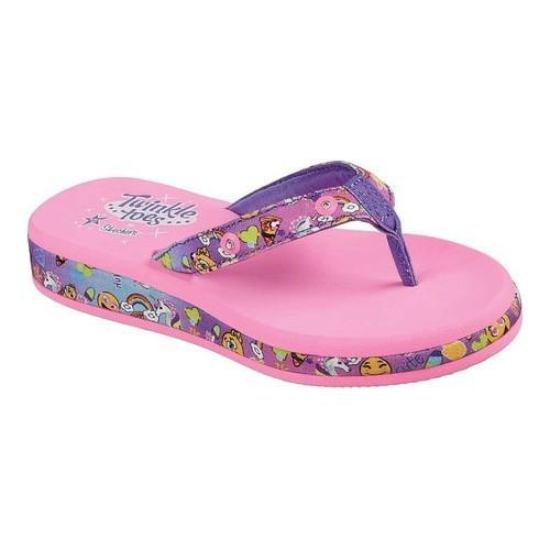 df6cff3c1eaf1 Shop Girls  Skechers Twinkle Toes Sunshines Smile Times Thong Sandal Multi  - Free Shipping On Orders Over  45 - Overstock.com - 20592539