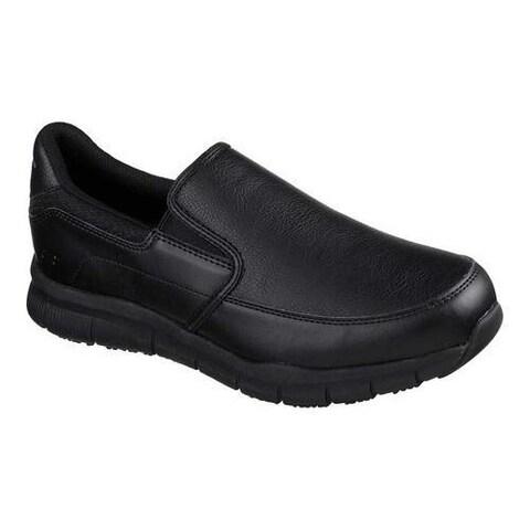 Men's Skechers Work Relaxed Fit Nampa Groton Slip Resistant Shoe Black