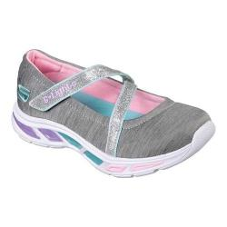 Girls' Skechers S Lights Litebeams Spin N Sparkle Mary Jane Gray/Multi