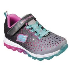Girls' Skechers Skech-Air Star Jumper Sneaker Black/Pink/Turquoise (More options available)