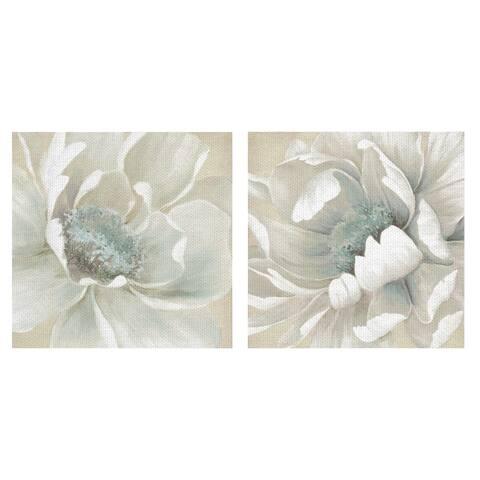Winter Blooms I & II by Carol Robinson Canvas Art