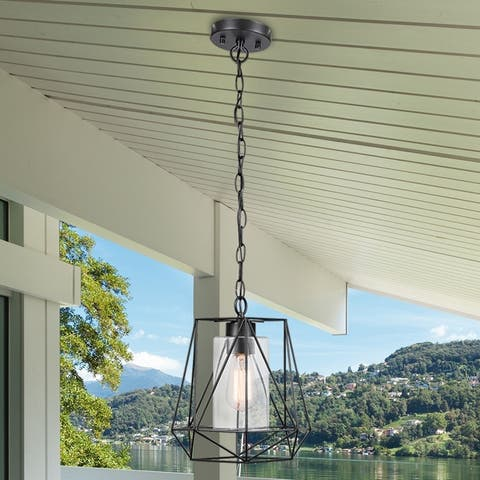 Havenside Home Stanza 1-light Black Outdoor/Indoor Pendant