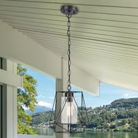 Sansa 1-Light Black Outdoor/Indoor Pendant