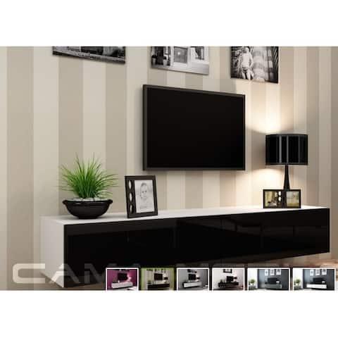 VIGO RTV 180 White/Black High Gloss TV Stand