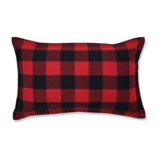 Pillow Perfect Pillow Perfect Buffalo Plaid 11.5x18.5-inch Lumbar Pillow
