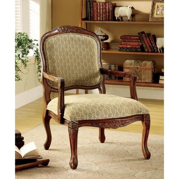 Shop Williams Import Quintus Tan Antique Oak Fabric Arm Chair Free