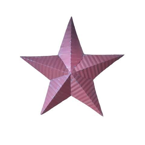 Handmade Rustic Tin Star - Red