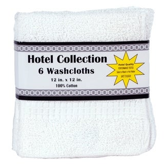 White Hotel Collection Six Piece Washcloth Set