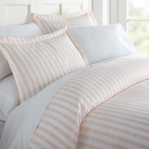 Merit Linens Premium Ultra Soft 3-piece Rugged Stripes Duvet Cover Set