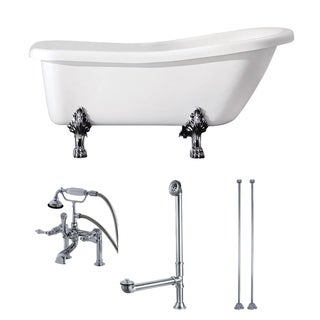 Link to Slipper 69-inch Acrylic Clawfoot Tub with Faucet Combo Similar Items in Bathtubs