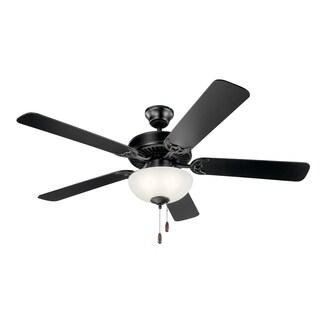 Basics 3-light 52-inch Satin Black Ceiling Fan - Satin Black