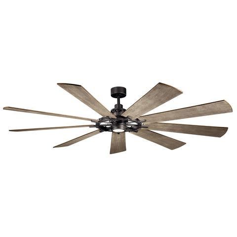 Gentry Xl 85 Inch Led Ceiling Fan 3 Finish Options