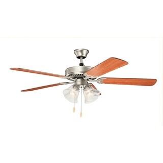 Basics 4-light 52-inch Ceiling Fan (3-finish options)