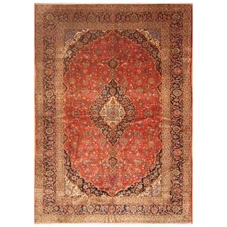 Handmade Kashan Wool Rug (Iran) - 9'10 x 13'10