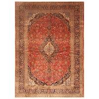 Handmade Herat Oriental Persian Hand-Knotted Kashan Wool Rug (9'10 x 13'10)