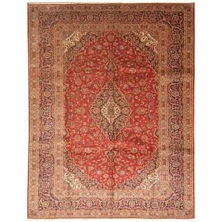 Handmade Kashan Wool Rug (Iran) - 9'6 x 12'6