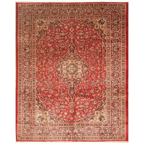 Handmade One-of-a-Kind Kashan Wool Rug (Iran) - 10'1 x 12'8
