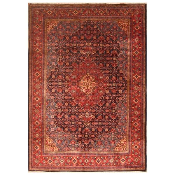 Handmade Mahal Wool Rug (India) - 8'5 x 12'