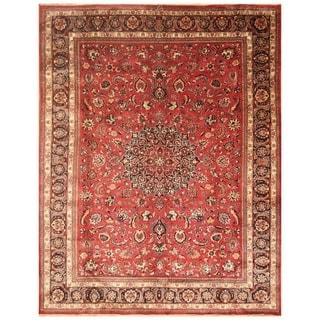 Handmade Signature Mashad Wool Rug (Iran) - 10' x 12'7