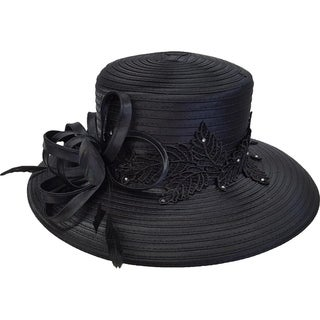 Swan Hat Women's Derby Church Satin Ribbon Wedding Dress Tea Party Hat
