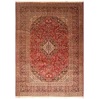 Handmade Kashan Wool Rug (Iran) - 8'1 x 11'6