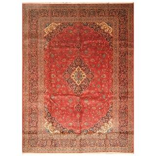 Handmade Kashan Wool Rug (Iran) - 9'8 x 13'