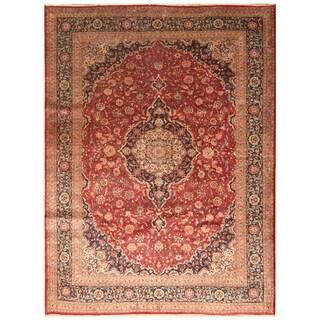 Handmade Kashan Wool Rug (Iran) - 8' x 11'3