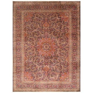Handmade One-of-a-Kind Mahal Wool Rug (India) - 9'7 x 12'9